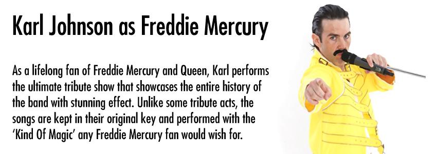 Karl Johnson (Freddie Mercury)